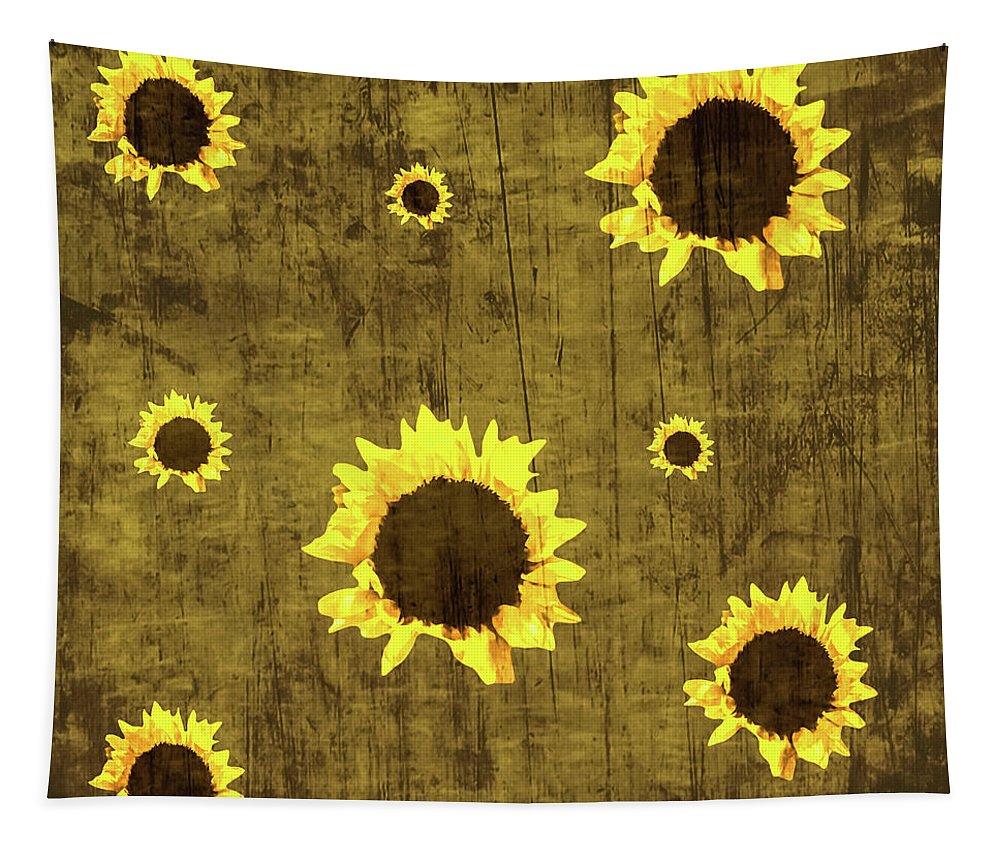 Tapestry featuring the photograph Test Rustic Sunflower Custom by Heather Joyce Morrill