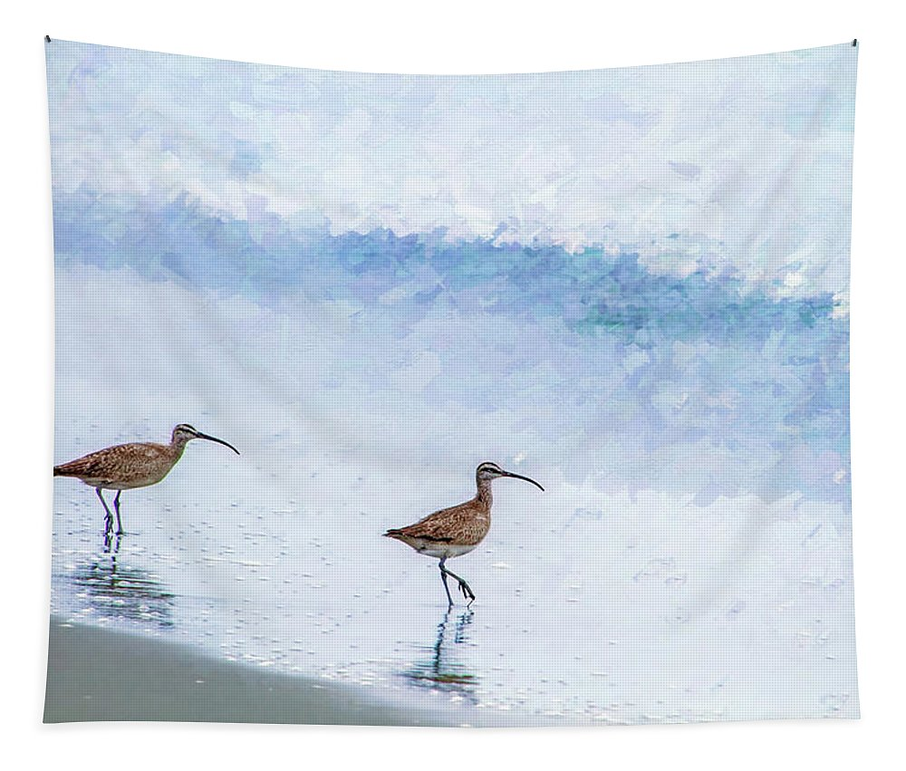 Photography Tapestry featuring the digital art Testing The Water by Terry Davis