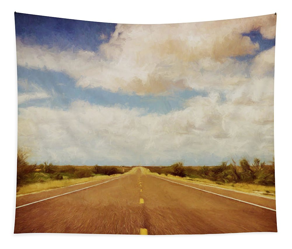 Scott Norris Photography Tapestry featuring the photograph Texas Highway by Scott Norris
