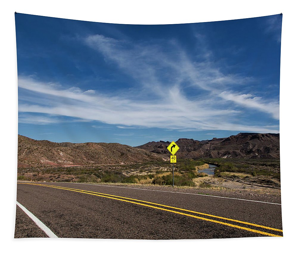 Big Bend Ranch State Park Tapestry featuring the photograph Texas River Road by Jurgen Lorenzen
