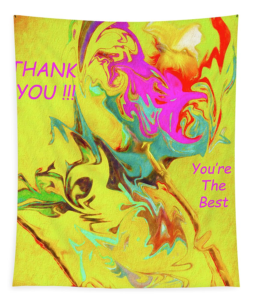 Thank You Tapestry featuring the photograph Thank You Card Abstract Lilac Breasted Roller by Kay Brewer