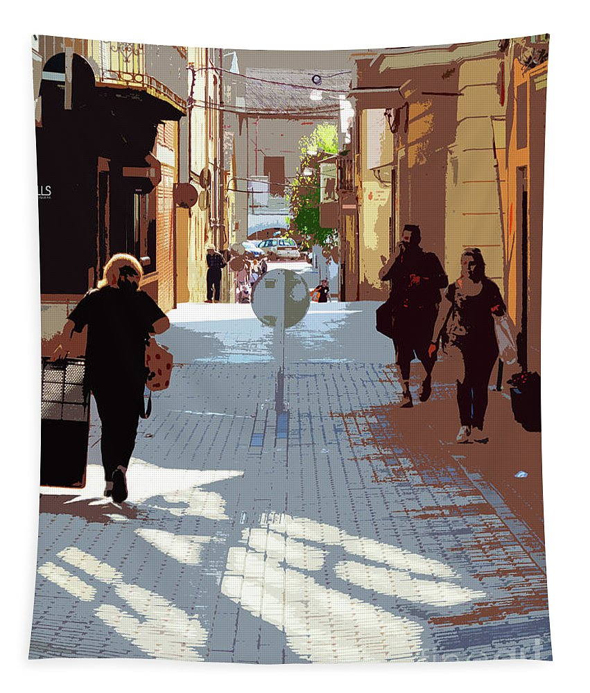 Street Tapestry featuring the photograph Thank You For Coming Home by Don Pedro DE GRACIA
