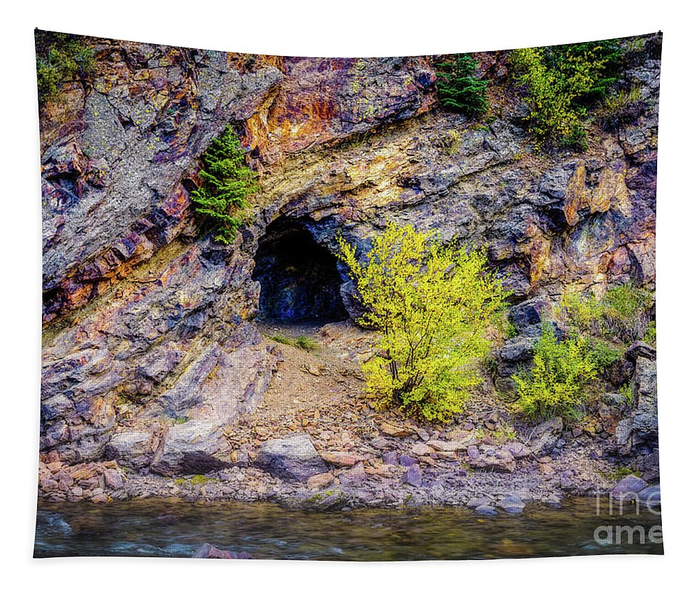 That's Mine Tapestry featuring the photograph That's Mine by Jon Burch Photography