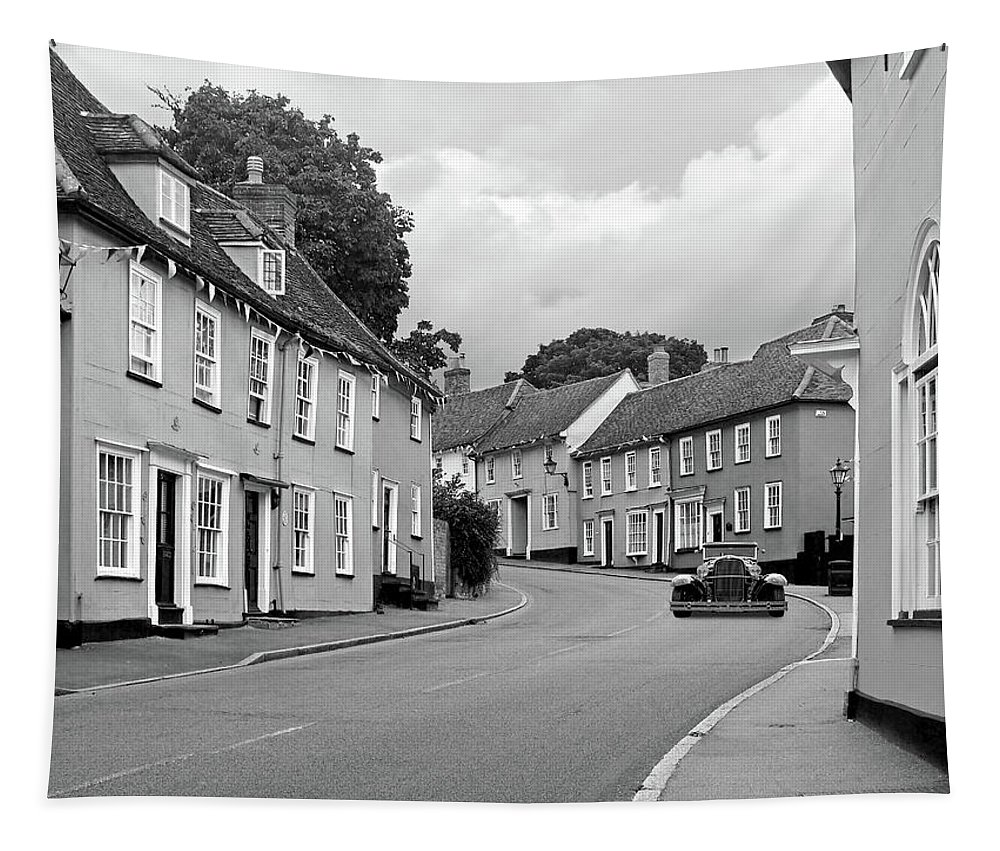 Thaxted Tapestry featuring the photograph Thaxted Cottages In Black And White by Gill Billington