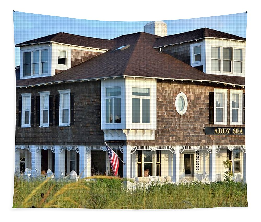 Tapestry featuring the photograph The Addy Sea Hotel - Bethany Beach Delaware by Kim Bemis