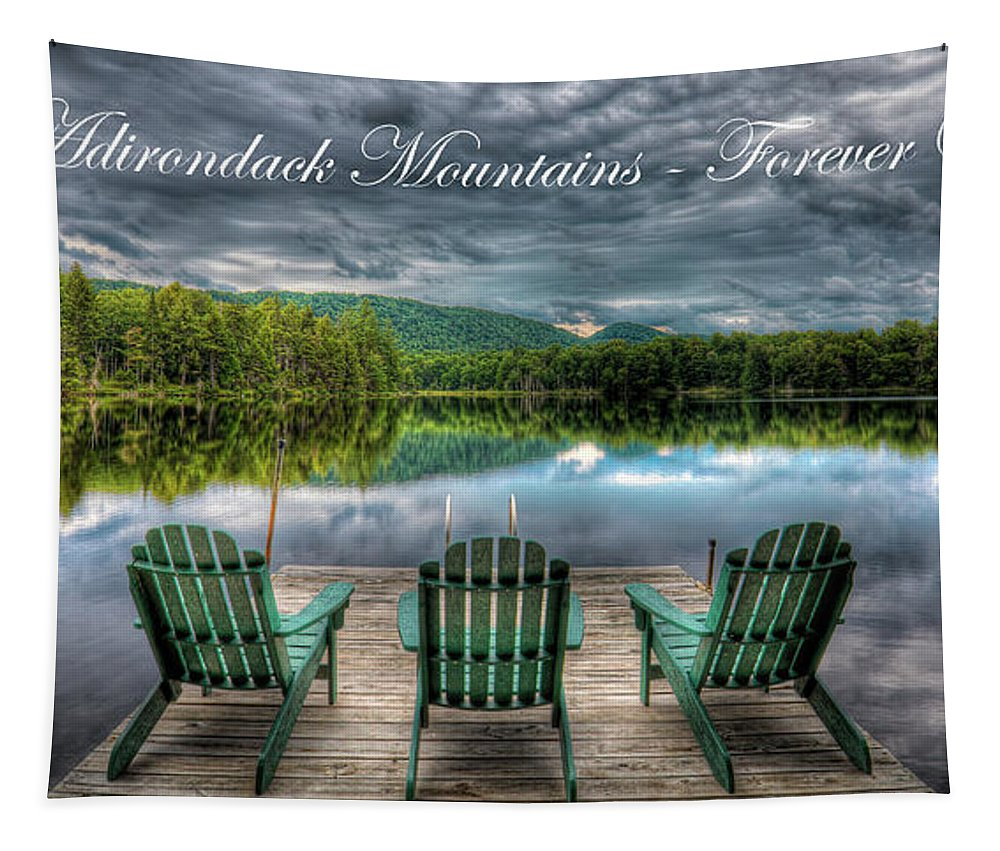 The Adirondack Mountains - Forever Wild Tapestry featuring the photograph The Adirondack Mountains - Forever Wild by David Patterson