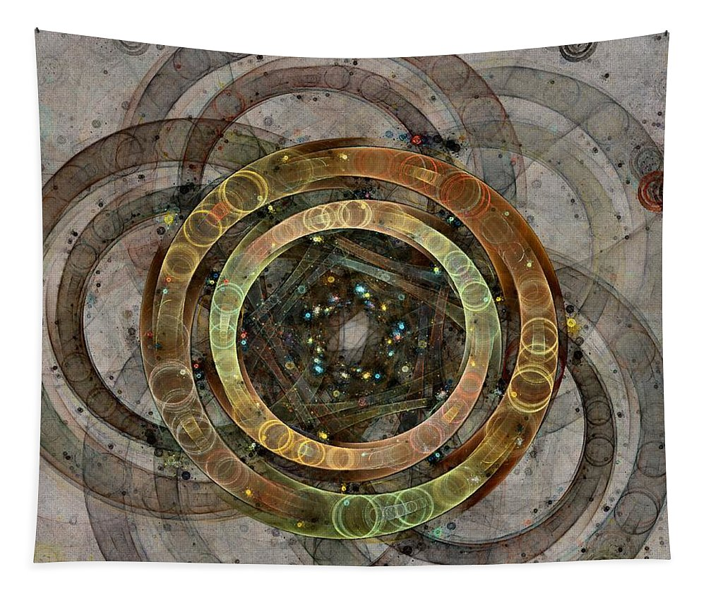 Circles Tapestry featuring the digital art The Almagest - Homage To Ptolemy - Fractal Art by NirvanaBlues