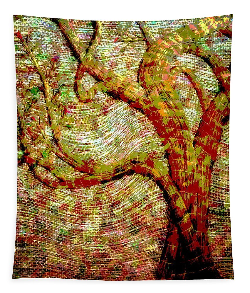 Tree Tapestry featuring the photograph The Ancient Tree Of Wisdom by Joyce Dickens