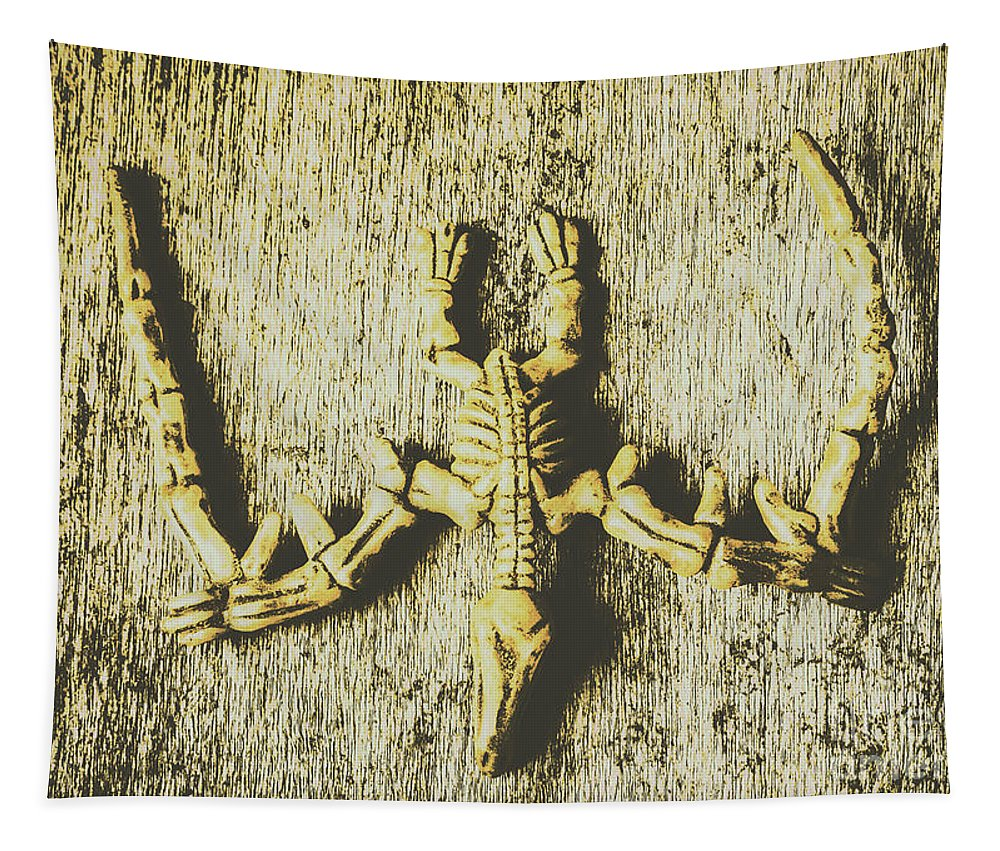 Skeleton Tapestry featuring the photograph The Art Of Dinosaur Birds by Jorgo Photography - Wall Art Gallery