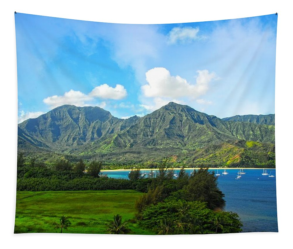 Kauai Tapestry featuring the photograph The Backside Of The Napali Coastline by Lynn Bauer