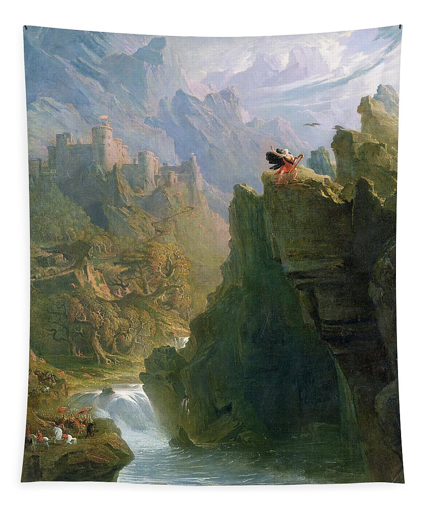 Xyc136233 Tapestry featuring the photograph The Bard by John Martin