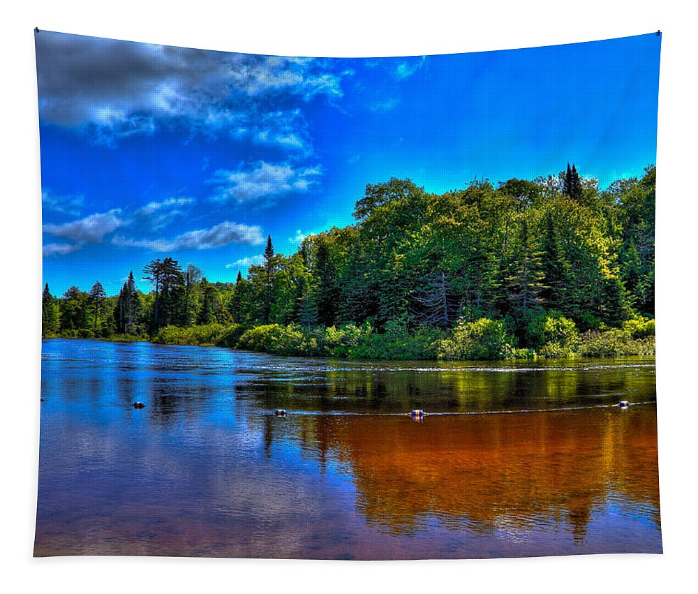 The Beach At Singing Waters Campground Tapestry featuring the photograph The Beach At Singing Waters Campground by David Patterson