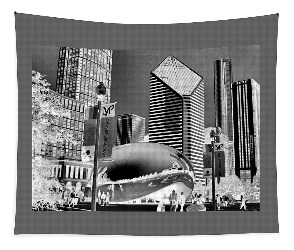 The Bean Tapestry featuring the photograph The Bean - 2 by Ely Arsha