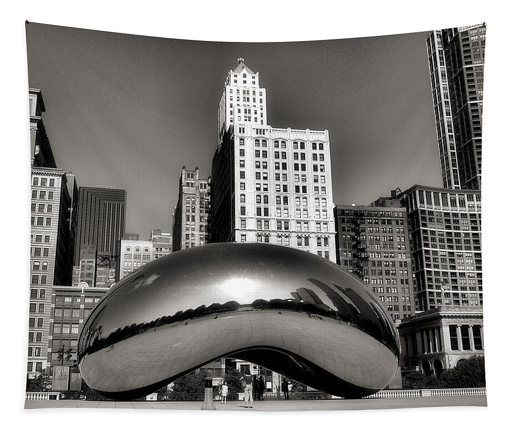 Chicago Architecture Tapestry featuring the photograph The Bean - 3 by Ely Arsha