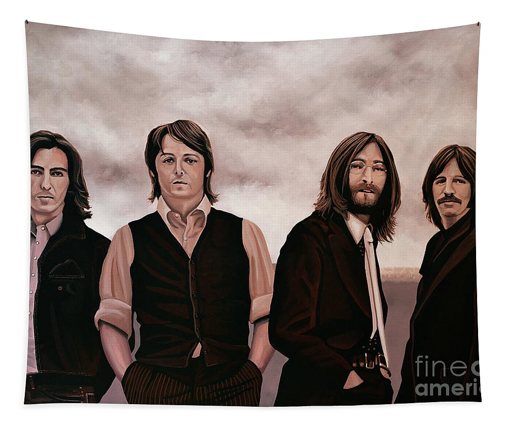 The Beatles Tapestry featuring the painting The Beatles 3 by Paul Meijering