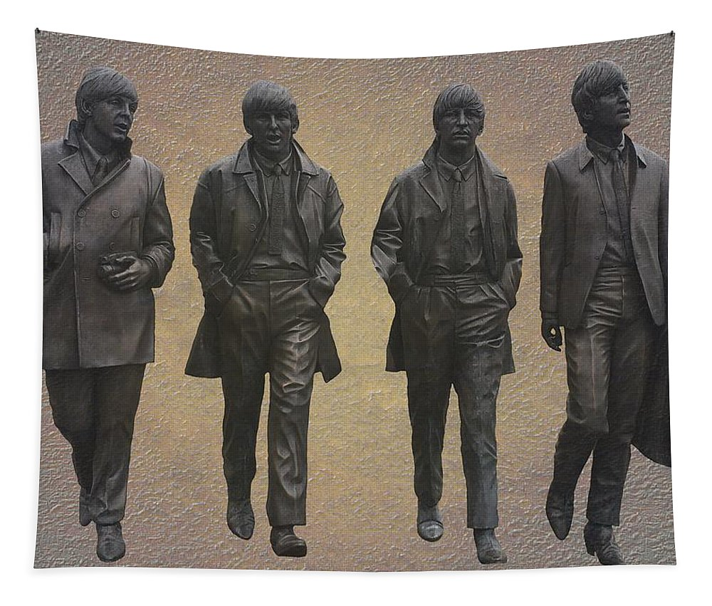 The Beatles Tapestry featuring the mixed media The Beatles by Movie Poster Prints