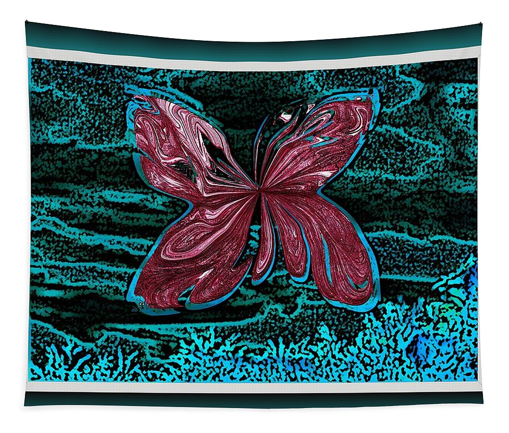Butterfly Tapestry featuring the digital art The Beauty Of A Butterfly's Spirit by Debra Lynch