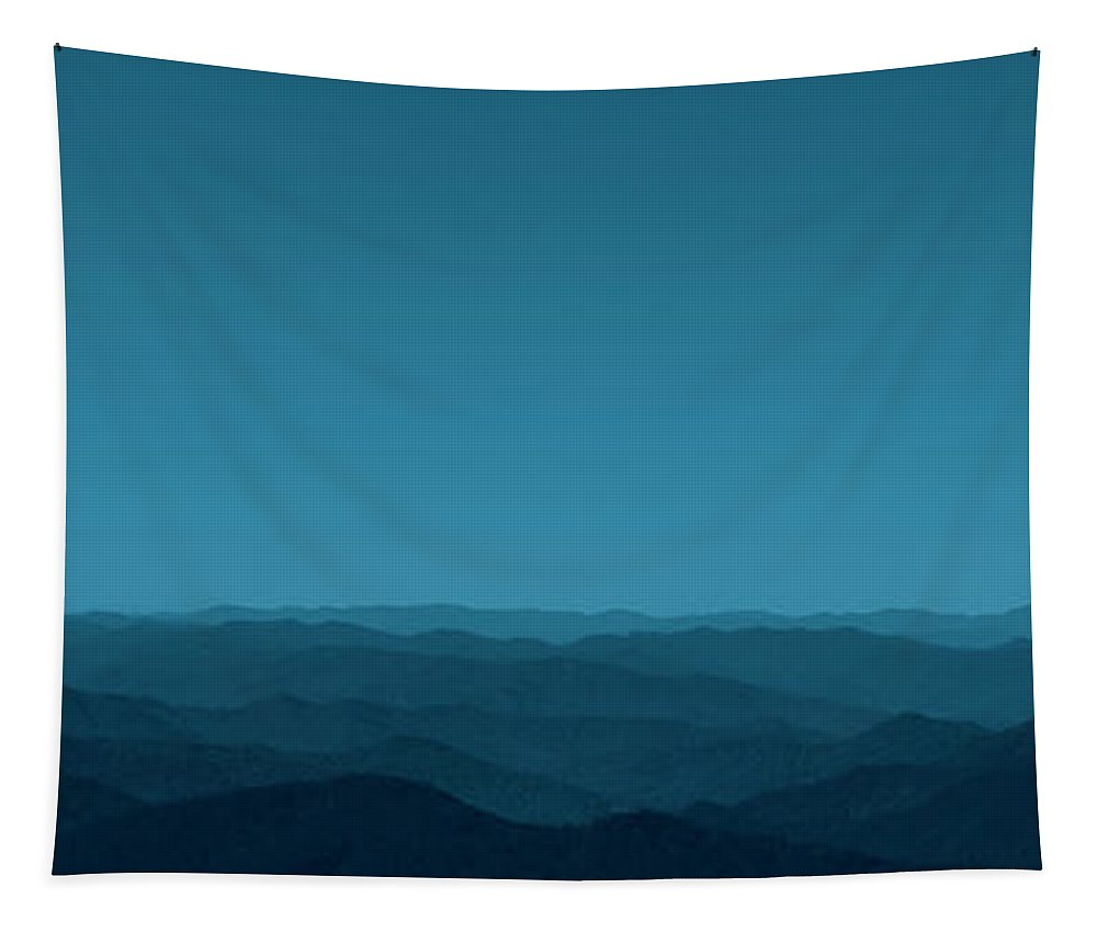 Mountain Tapestry featuring the photograph The Beauty Of Mountains - Panorama by Mitch Spence