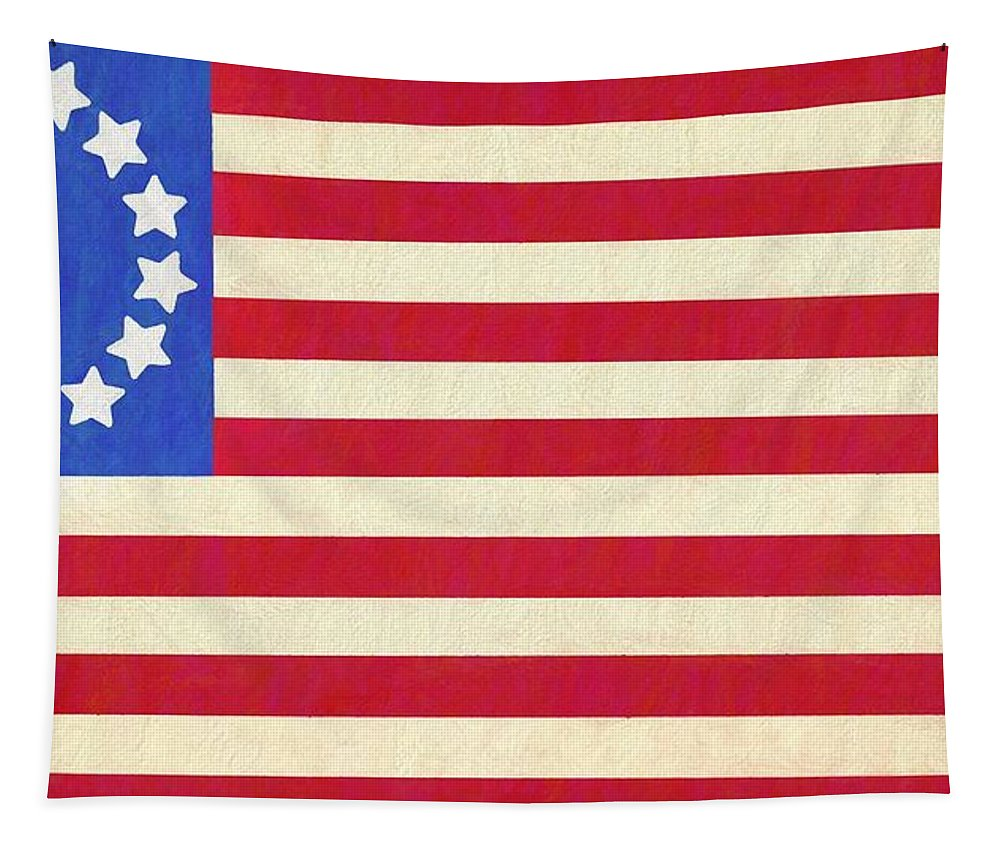 Betsy Ross American Flag Tapestry featuring the painting The Betsy Ross Flag by Dan Sproul