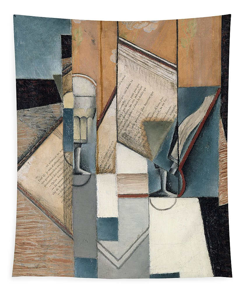 The Tapestry featuring the painting The Book by Juan Gris