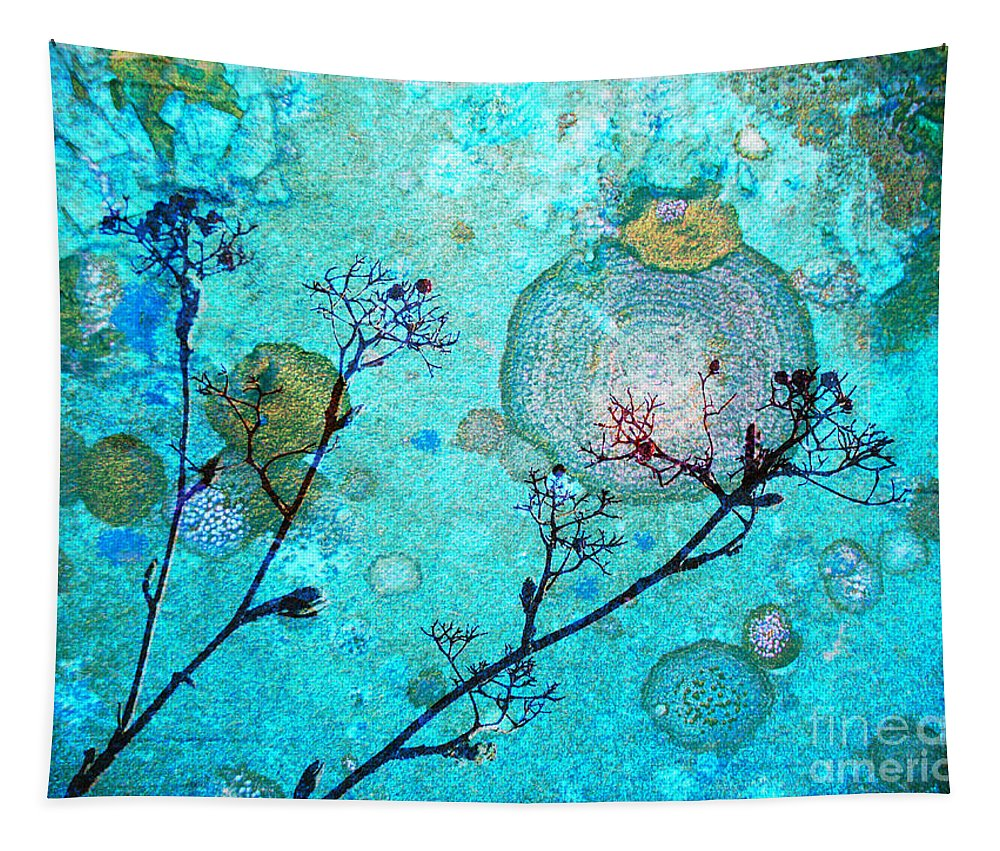 Rust Tapestry featuring the photograph The Branches And The Moon by Tara Turner