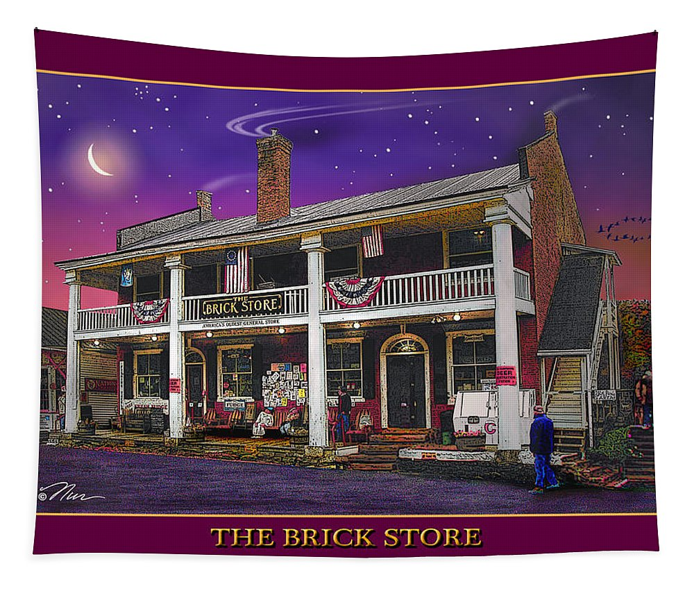 Architecture Tapestry featuring the photograph The Brick Store by Nancy Griswold