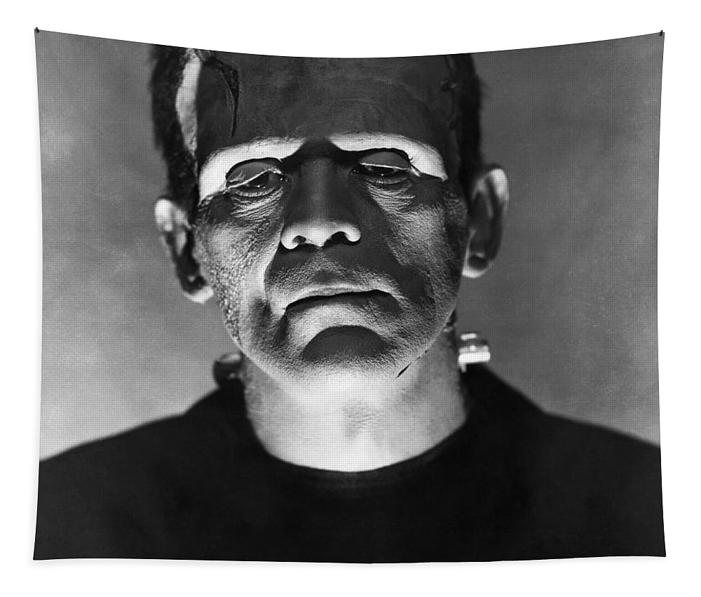 The Bride Tapestry featuring the photograph The Bride Of Frankenstein by R Muirhead Art