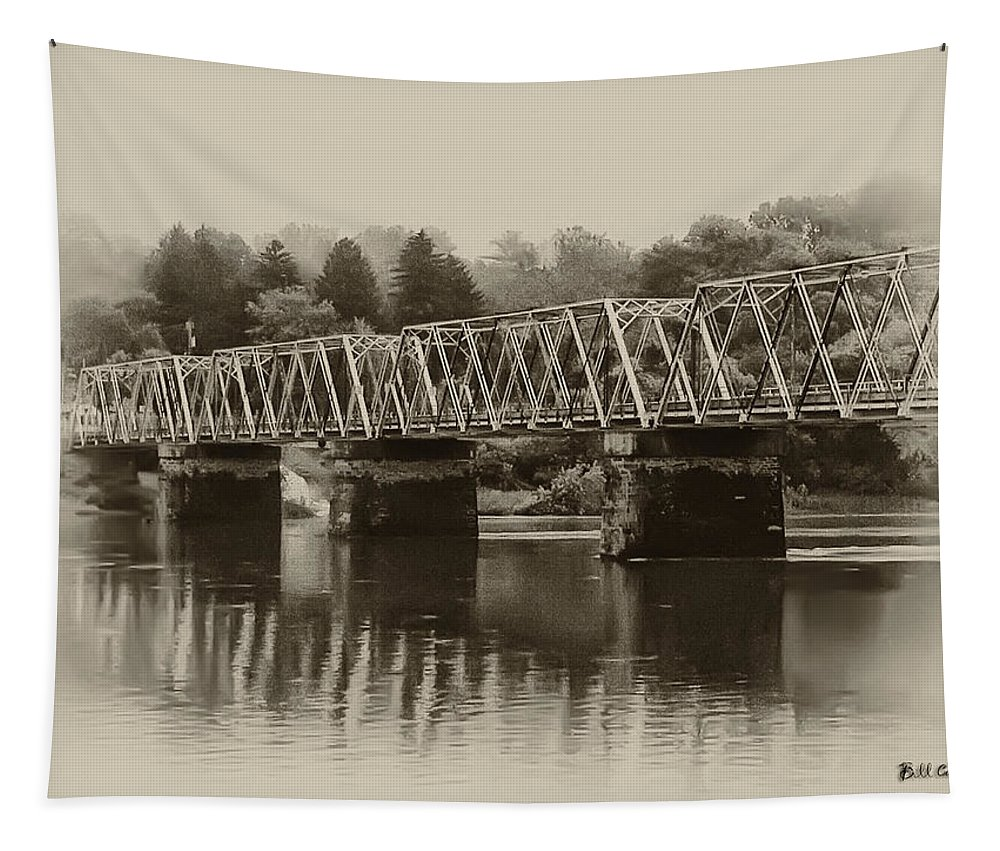 The Bridge At Washingtons Crossing Tapestry featuring the photograph The Bridge At Washingtons Crossing by Bill Cannon