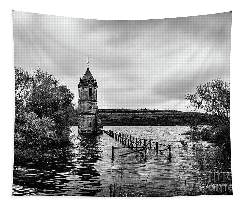 Cantabria Tapestry featuring the photograph The Cathedral Of Fish Bw by RicardMN Photography