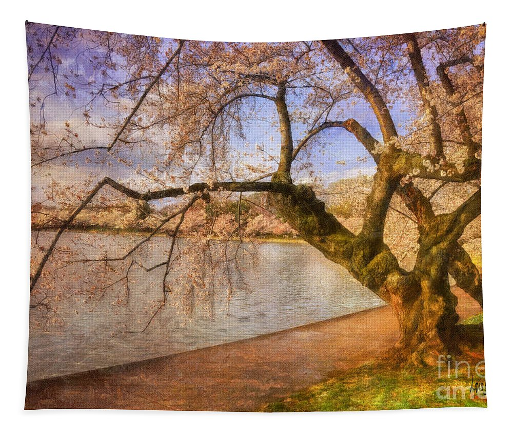 Trees Tapestry featuring the photograph The Cherry Blossom Festival by Lois Bryan