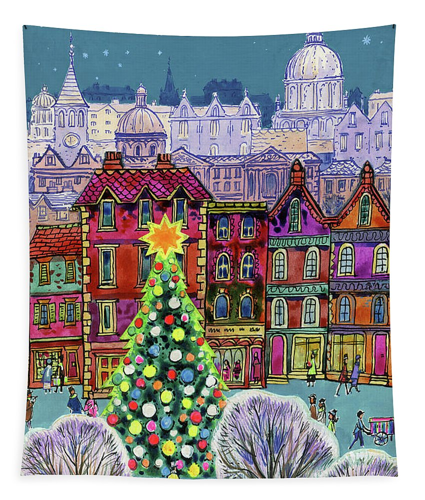 Christmas Tree Tapestry featuring the painting The Christmas Tree by Stanley Cooke