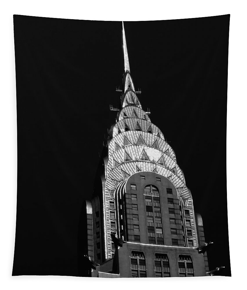 Chrysler Building Tapestry featuring the photograph The Chrysler Building by Vivienne Gucwa