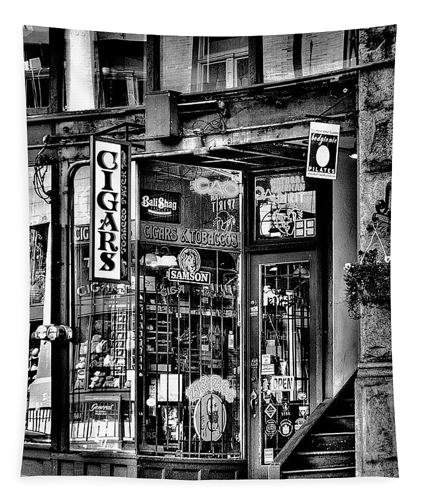 The Cigar Store Tapestry featuring the photograph The Cigar Store by David Patterson
