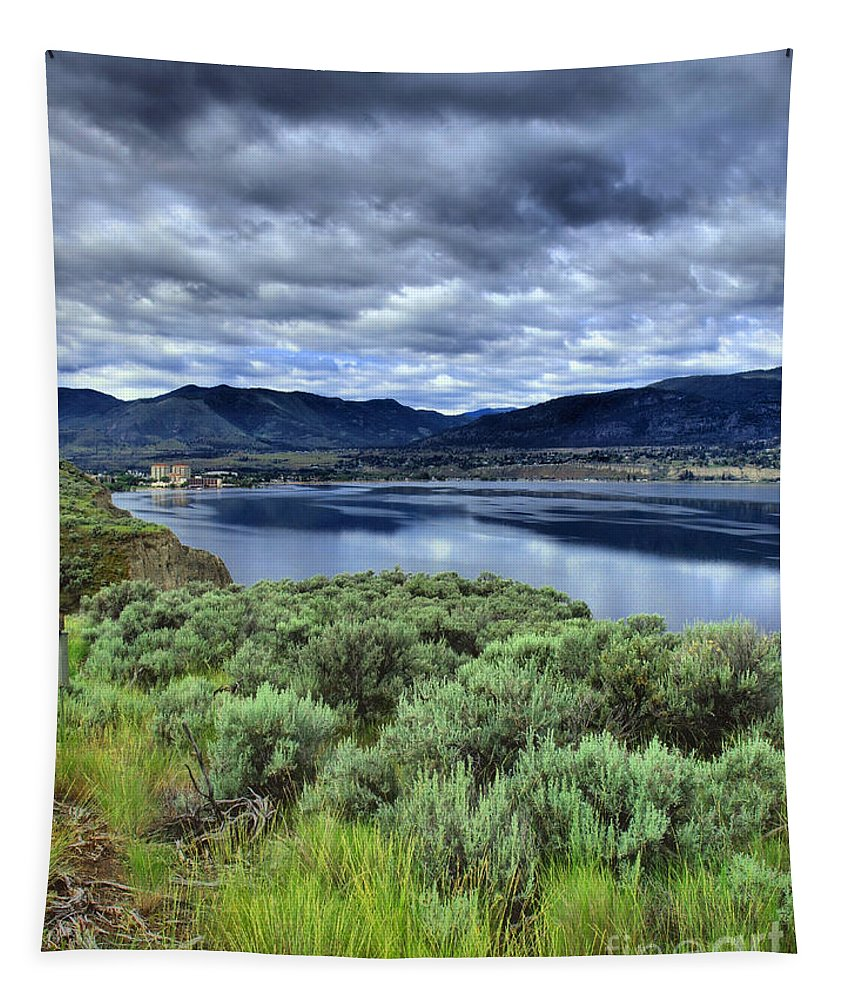 Clouds Tapestry featuring the photograph The City And The Clouds by Tara Turner