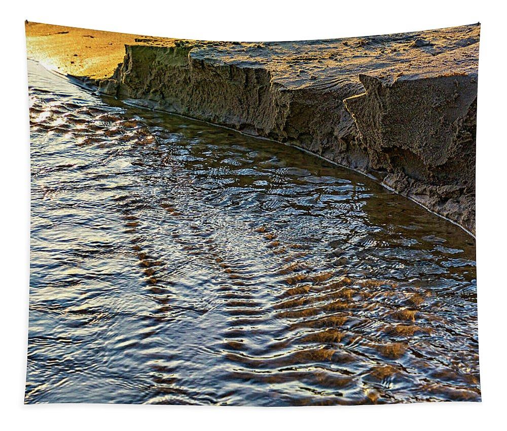 Steve Harrington Tapestry featuring the photograph The Cliffs Of Sauble by Steve Harrington
