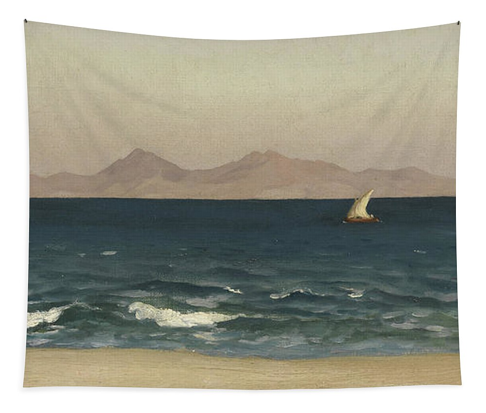 Leighton Tapestry featuring the painting The Coast Of Asia Minor by Frederic Leighton
