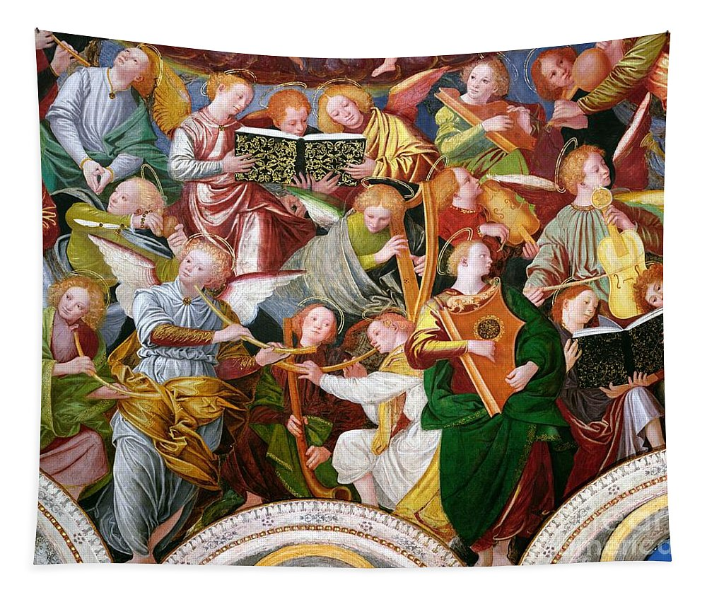 The Tapestry featuring the painting The Concert of Angels by Gaudenzio Ferrari