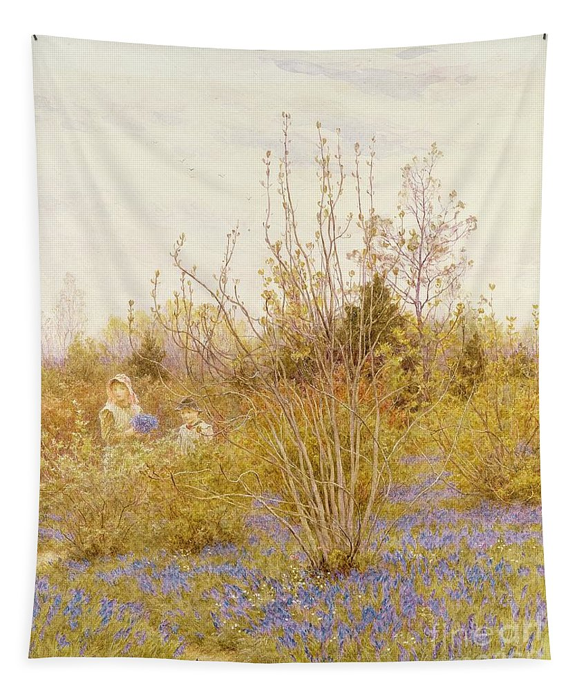 The Tapestry featuring the painting The Cuckoo by Helen Allingham