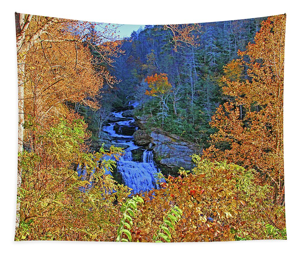 Cullasaja River Tapestry featuring the photograph The Cullasaja by HH Photography of Florida