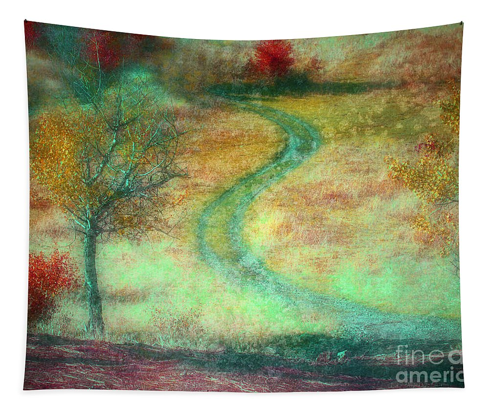 Road Tapestry featuring the photograph The Curve In The Road by Tara Turner