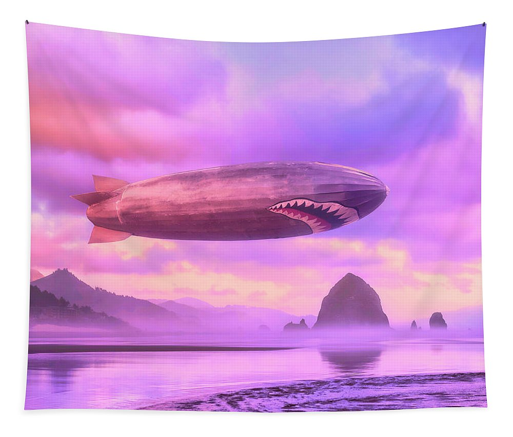 Airship Tapestry featuring the photograph The Dawn Patrol by Dominic Piperata