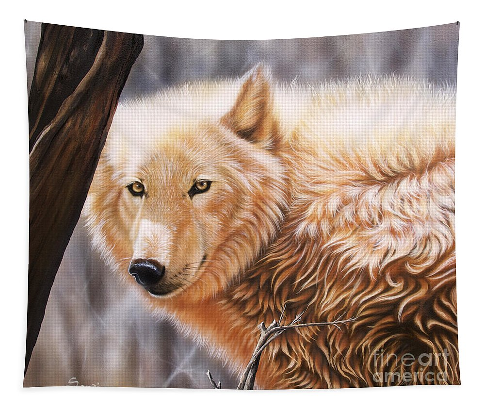 Acrylic Tapestry featuring the painting The Daystar II by Sandi Baker