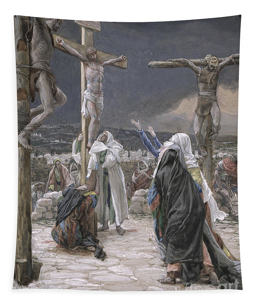 The Tapestry featuring the painting The Death Of Jesus by Tissot