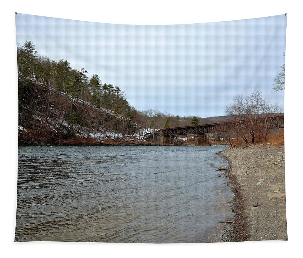 River Tapestry featuring the photograph The Delaware River by Kurt Von Dietsch