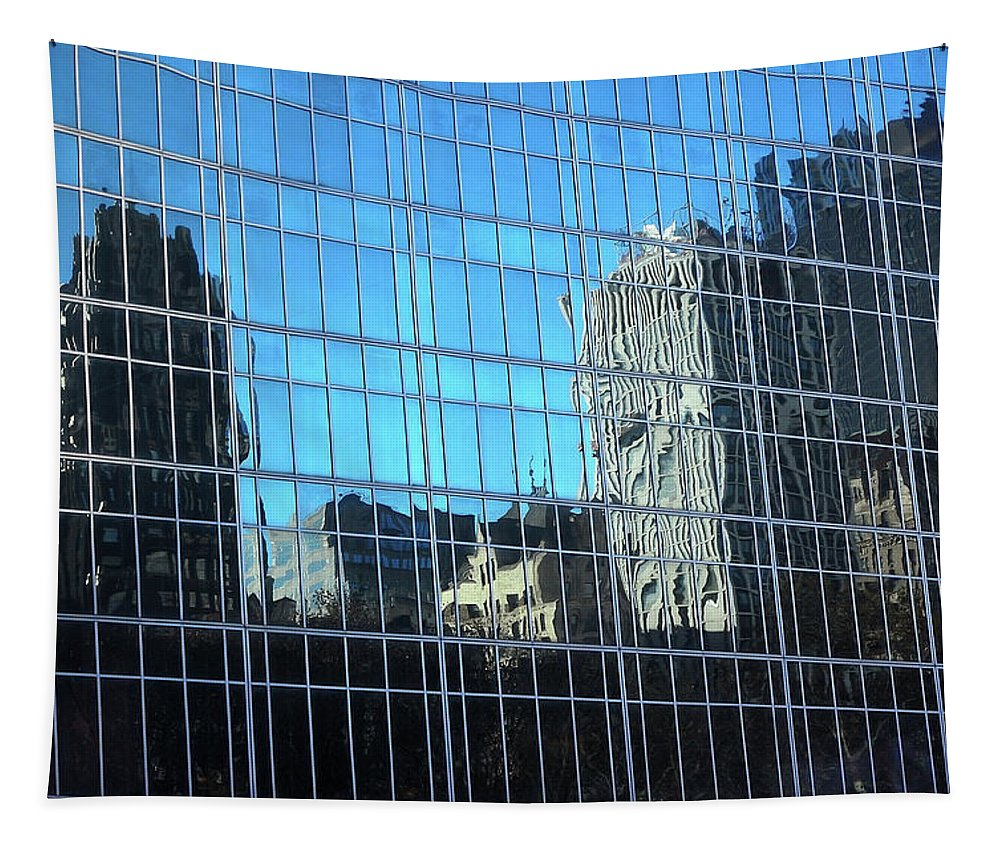 New York Tapestry featuring the photograph The Distortions, New York by Richard Ortolano