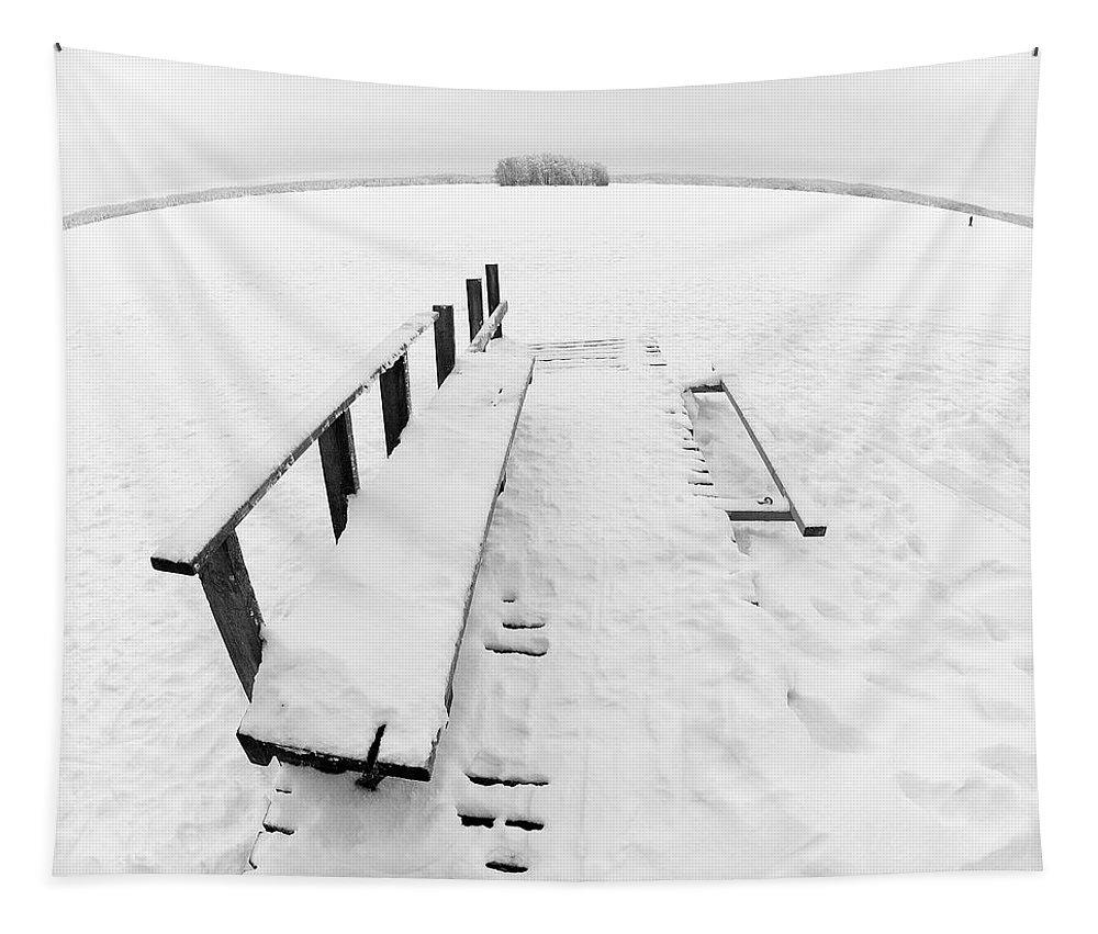 Lehtokukka Tapestry featuring the photograph The Dock 1 by Jouko Lehto