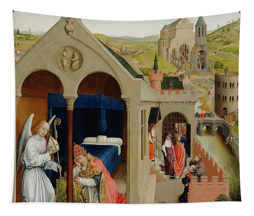 Painting Tapestry featuring the painting The Dream Of Pope Sergius by Mountain Dreams