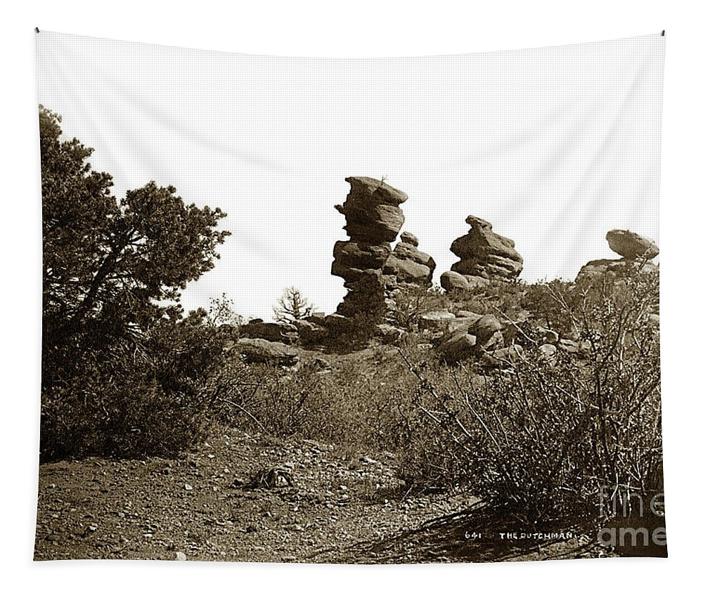 The Dutchmangarden Of The Gods Tapestry featuring the photograph The Dutchmangarden Of The Gods, Colorado by California Views Archives Mr Pat Hathaway Archives