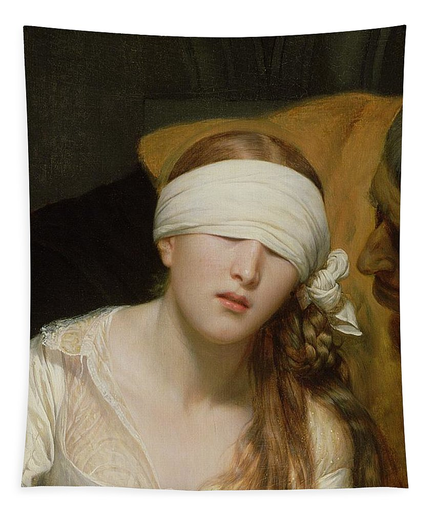 The Tapestry featuring the painting The Execution Of Lady Jane Grey by Hippolyte Delaroche