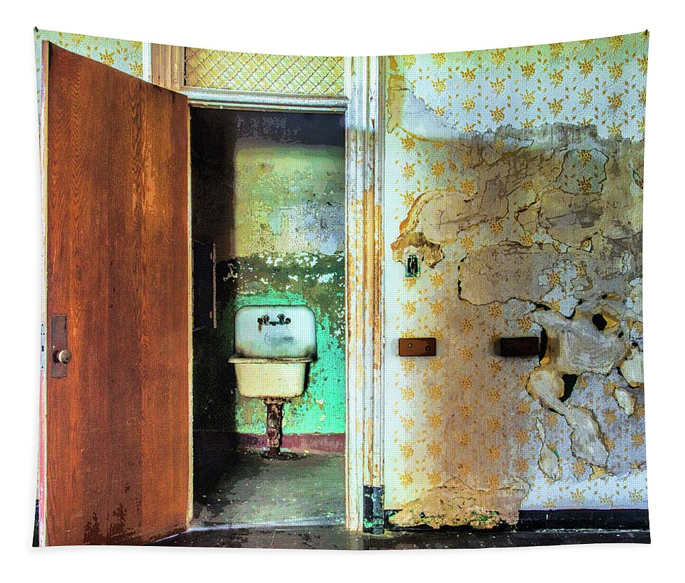 Bathroom Tapestry featuring the photograph The Executive Washroom by Dominic Piperata